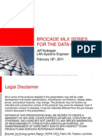 Brocade MLX Series for the Data Center Presentation