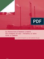 La production d'énergie à partir des hydrates de gaz – potentiel et défis pour le Canada
