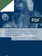 La transmission du virus de la grippe et la contribution de l'équipement de protection respiratoire individuelle – Évaluation des données disponibles
