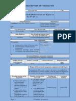 Sotirovic PER Ir VJR Description of Course Unit 2011 2012 in English in PDF