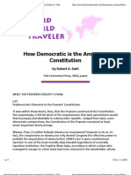 How Democratic is the American Constitution by Robert a. Dahl