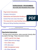 Lecture 12 Control, Subroutine,String Instructions)