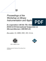 Proceedings of the Workshop on Binary Instrumentation and Applications 2009