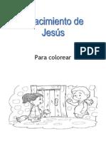 Para Colorear el nacimiento de Jesús