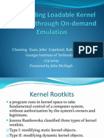 Chaoting Xuan, John Copeland, Raheem Beyah- Shepherding Loadable Kernel Modules through On-demand Emulation