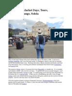 Guatemala Market Days, Tours, Solola
