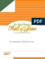 NJWHOF 2012 Sponsorship Opportunities