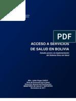Julien Dupuy - Estudio de exclusión y Acceso a servicios de salud en Bolivia