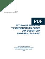Julien Dupuy - Estudio de situación y Experiencias Internacionales en países con Cobertura Universal en salud