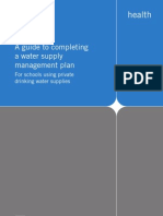 Australia; A guide to completing a water supply management plan - for schools using private drinking water supplies - Victorian Government