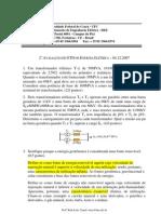 AP2_2007_2 prova transformadores