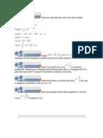 Calcule a derivada de cada uma das funções abaixo
