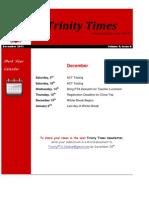 Trinity Newsletter Dec2011