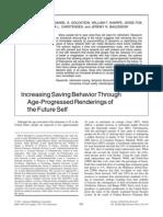 Increasing Saving Behavior Through Age-Progressed Renderings of the Future Self