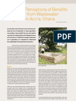 Ghana; Farmers' Perceptions of Benefits and Risks from Wastewater Irrigation in Accra