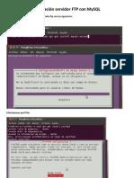 Instalación servidor FTP con MySQL