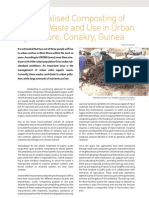 Guinea; Decentralised Composting of Market Waste and Use in Urban Agriculture - Conakry