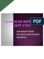 MTE 3102 (KURIKULUM PENDIDIKAN MATEMATIK) -Bah as A