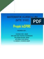 MTE 3102 (KURIKULUM PENDIDIKAN MATEMATIK) -Projek Inspire
