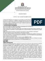 Edital Prefeitura de Aracaju - Guarda Municipal
