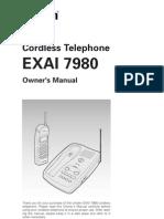 UNIDEN Cordless Phone EXAI7980om