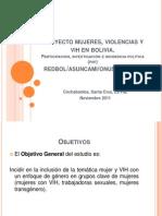Mujeres, Violencias y VIH en Bolivia