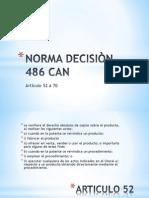 NORMA DECISIÒN 486 CAN (exposicion)