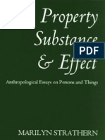 Property Substance and Effect Anthropological Essays on Persons and Things