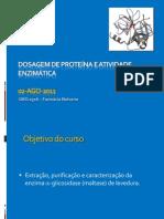 Dosagemproteinaatividadeenzimatica
