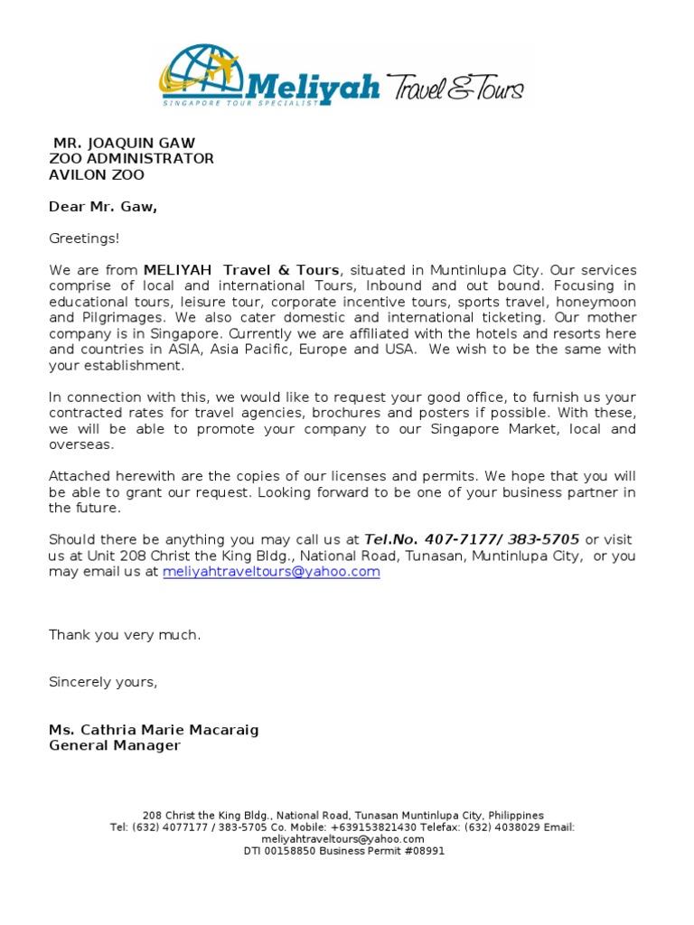 Business Partnership Proposal Letter  Letter Of Intent Partnership