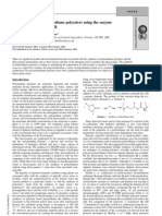 Green Chem 2004, 6, 151-155 Synthesis of Novel Polyurethane Polyesters Using the Enzyme Candida Antarctic A Lipase B