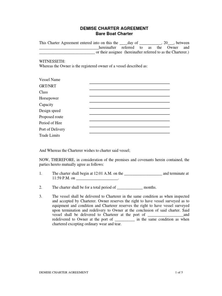 00360 Demise Charter Indemnity Civil Law Legal System