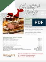 Olenjacks Grille Christmas To-Go Menu