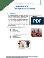 REANIMACIÓN CARDIOPULMONAR EN NIÑOS (1)