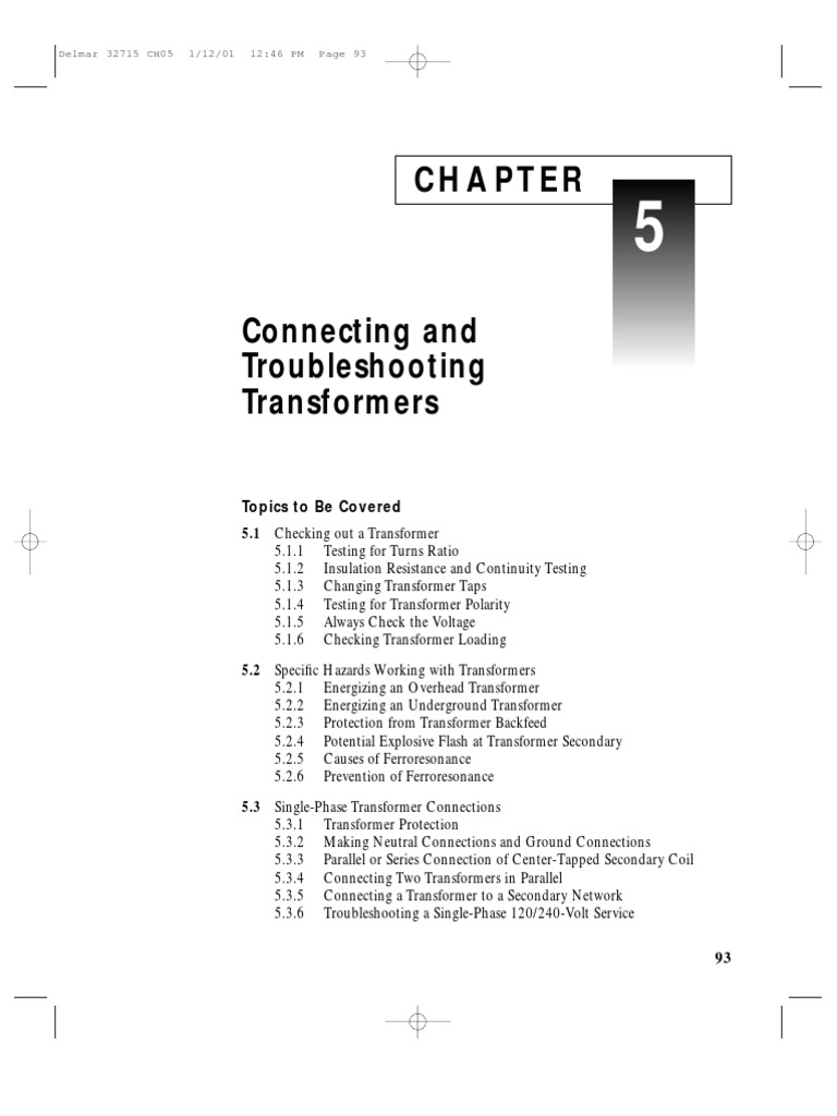 Troubleshooting Transformers | Transformer | Series And