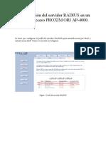 Configuración Radius AP 4000 Proxim