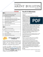 ES Parent Bulletin Vol#8 2011 Dec 2