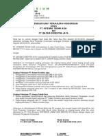 Addendum Perjanjian Konsorsium - Pembagian Lingkup Kerja
