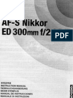 Af-s Nikkor Ed 300mm F-2.8 d If