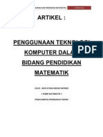 MTE 3102 (KURIKULUM PENDIDIKAN MATEMATIK) - KKP - ARTIKEL