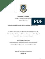 Gender Inequality and Socioeconomic Development Final