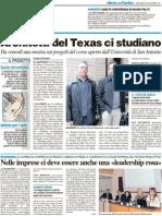 """Architetti del Texas ci studiano / Sabato conferenza di Mauro Politi / Nelle imprese ci dev'essere una leadership """"rosa""""  - Il Resto del Carlino del 30 novembre 2011"""