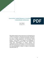 Innovación, Capital Humano y Creatividad en las Comunidades Autónomas JORGE SALGADO