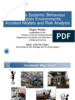 Accident Models and Risk Analysis