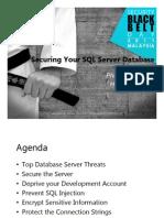 Securing Your SQL Server Database - Phua Chiu Kiang