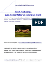 Direct Marketing Quando Ricontattare i Potenziali Clienti