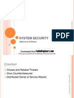 System Security-Virus and Worms