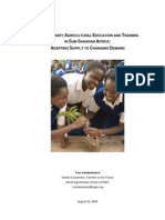 Post Primary Agriculture Education Africa