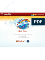 My Firefox 3 Download Day Certificate