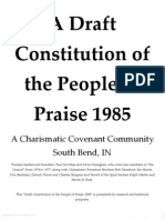 1985 Draft Constitution of the People of Priase, S Bend, IN